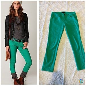 Denim - Turquoise ankle pants
